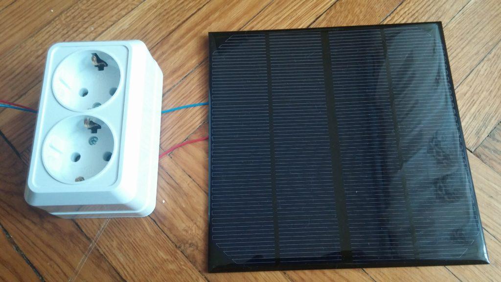 Солнечная батарея, вид спереди